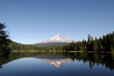Trillium Lake, Oregon reflecting Mt Hood