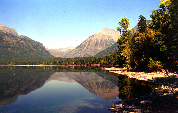 Lake McDonald, Glacier NP 1991 Fujichrome slide