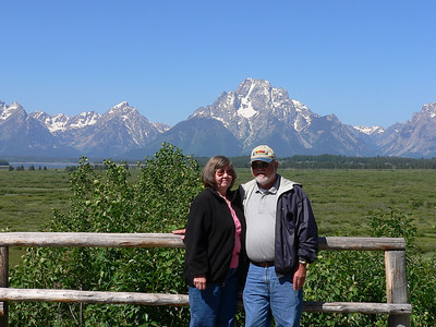 Just soaking up the beauty of the Tetons
