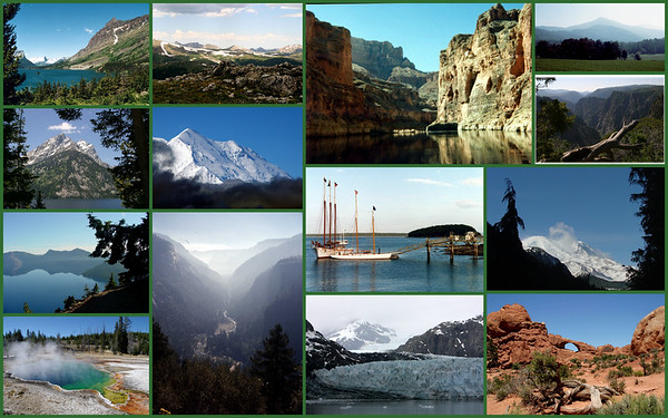 Glacier MT, Rocky Mt, Grand Canyon, Smokey Mt, Black Canyon, Grand Tetons, Denali, Acadia, Mt Rainier, Crater Lake, Yosemite, Glacier Bay, Arches, Yellowstone and MORE