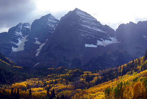 Maroon Bells in October - south of Aspen