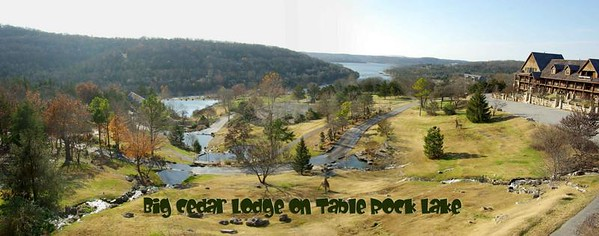 A fantastic resort overlooking Table Rock about 10 miles south of Branson.